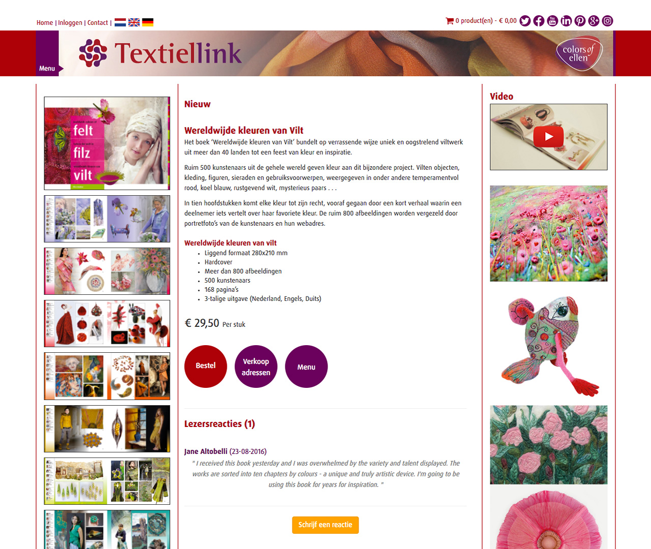 Website design homepage